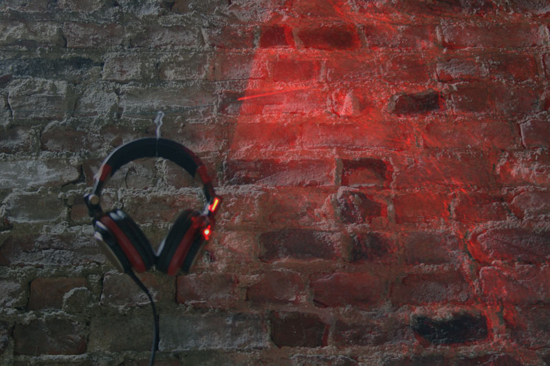 laser fan headphones
